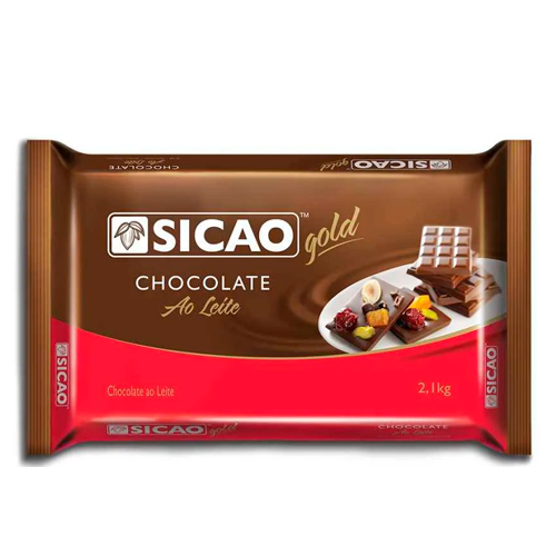 Chocolate Sicao ao leite 2,1 kg CRM-BL-0002615-A12 chocolate, sicao,chocolate ao leite, food service Sobremesas e Seus Ingredientes